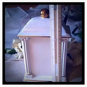 Paul Sebastian Accents - Vintage Floral Porcelain Mantel/Desk Clock